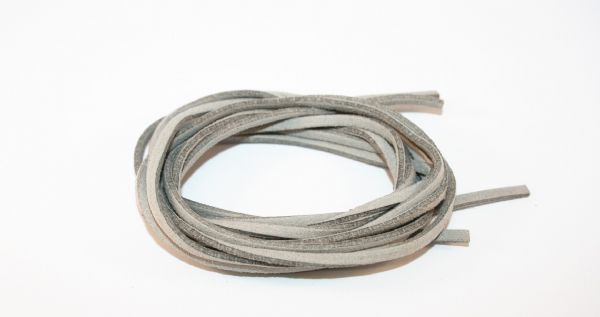 2meter Grey Suede cord - 2.5mm